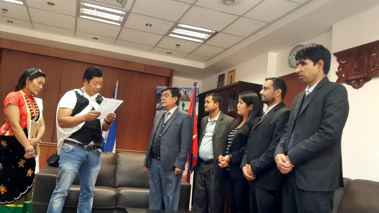 मगर संघ इजरायलले नेपाल सरकारलाइ ज्ञापन पत्र बुझायो 