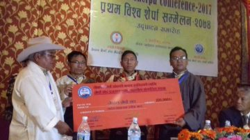 शेर्पा संघ इजरायलद्वारा नेपाल शेर्पा संघकाे भवनकाे लागि २२ लाख १ रुपैयाँ सहयोग हस्तान्तरण  