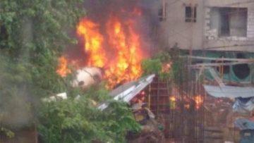 मुम्बईमा विमान दुर्घटना ५ जनाको मृत्यु |