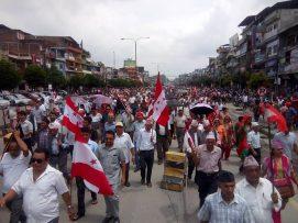 सरकार अधिनायकवाद तर्फ उन्मुख भएको भन्दै चितवनमा नेपाली कांग्रेसको बिरोध प्रदर्शन |