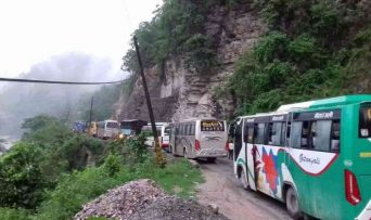 मुग्लिङ्ग नारायणगढ सडक फेरि अबरुद्द  