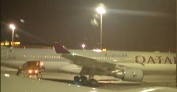 कतार एयरवेजको विमान कोलकातामा अवतरण गर्ने क्रममा दुर्घटना ,यात्रुहरु सुरक्षित |