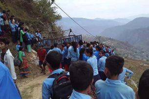 ट्याक्टर दुर्घटना हुँदा अछाममा ३ बिद्यार्थीको मृत्यु ।