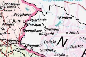 भारतको नवौ संस्करण नक्सामा काली नदी गायब।
