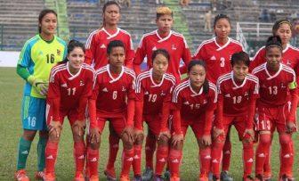 स्वर्ण जित्ने नेपाली राष्ट्रिय  महिला फुटबल टिमको सपना तुहियो।
