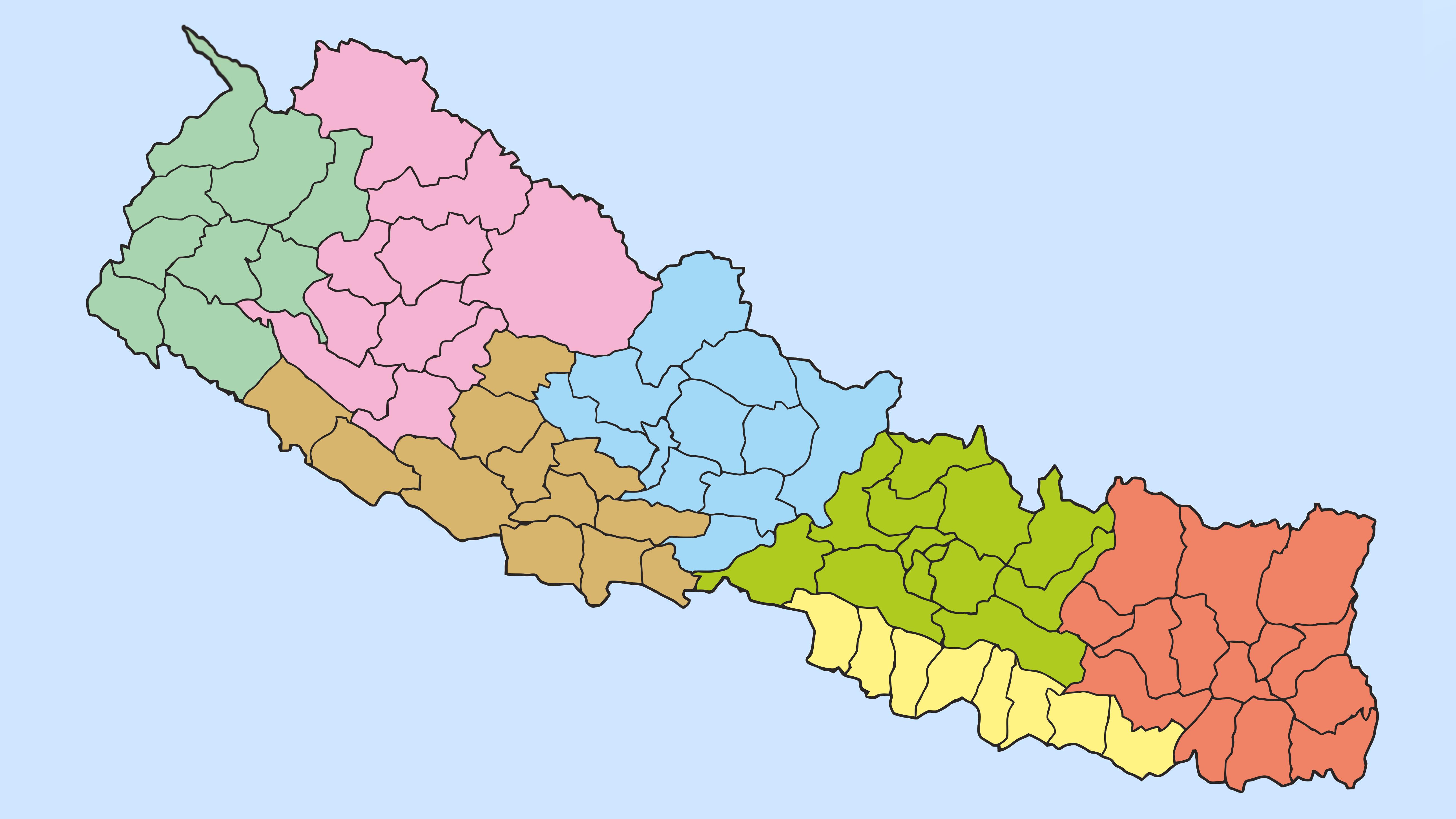 नेपाल सरकारद्वारा  लिम्पियाधुरा सहितको नक्सा पारिक।